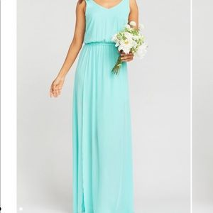 Kendall Maxi Dress In Seaglass